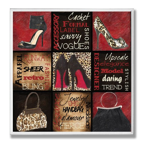 Home Décor Fashionista 9 Patch Red Bottoms and Such Graphic Art Plaque