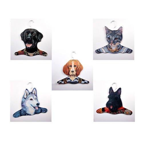 Stupell Industries Animal Beagle / Gray Cat / Black Lab / Husky / Scottie Clothing Hanger