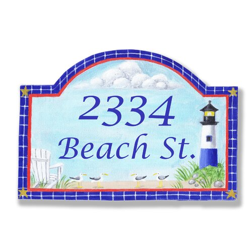 Personalized House Lighthouse Arched Wall Plaque