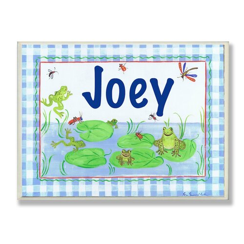 Kids Room Personalization Frog Wall Plaque
