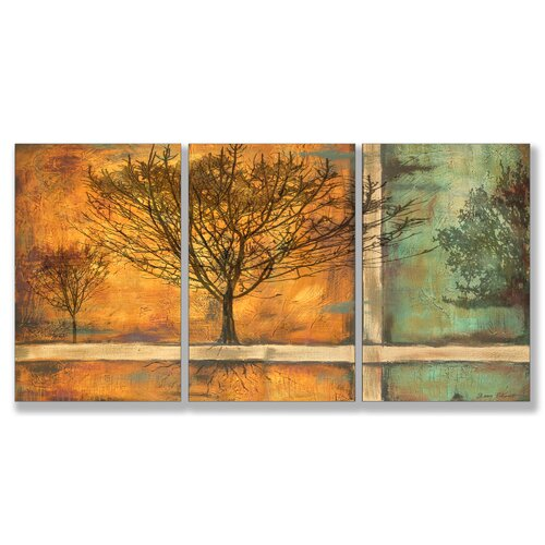 Stupell Industries Home Décor Deep Roots 3 Piece Painting Print Set