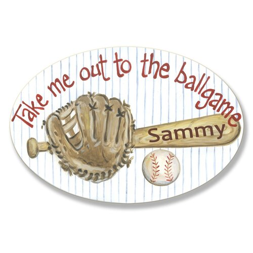 Kids Room Personalization Base Ball Bat Wall Plaques