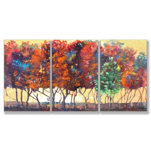 Home Décor Enchanted Forest 3 Piece Painting Print Set