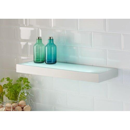 Lite-Tech Aluminium Illuminated 1 Light Box Shelf Flush Light