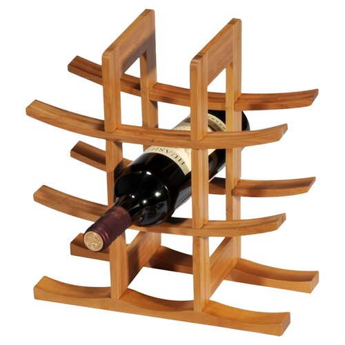 Bamboo 9 Bottle Tabletop Wine Rack (Set of 3)