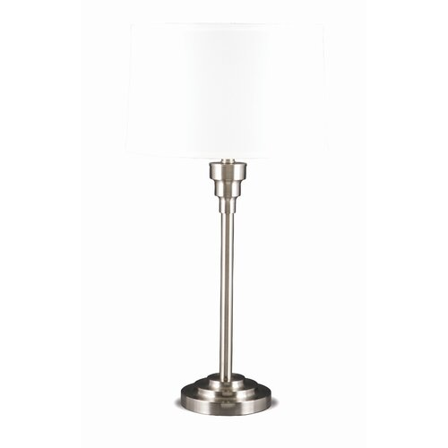 Lighting Enterprises Step Base Table Lamp with Hardback Shade