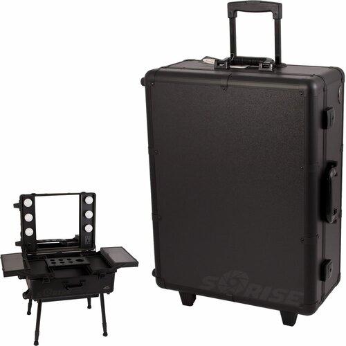 Sunrise Cases Professional Rolling Studio Makeup Train Case