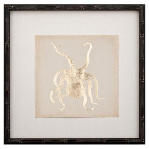 Mirror Image Home Gold Leaf Octopus Framed Graphic Art