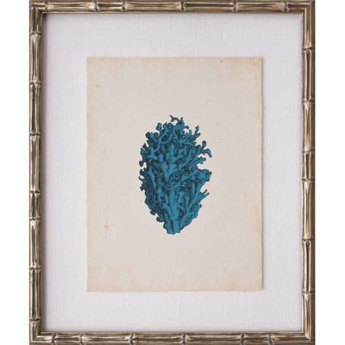 Mini Turquoise Coral IV Framed Graphic Art