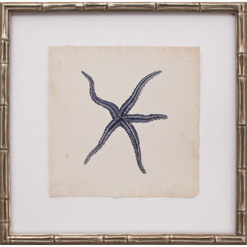 Mini Indigo Starfish III Framed Graphic Art