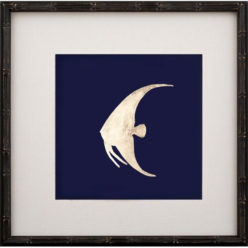 Gold Leaf Left Facing Fish II Framed Graphic Art