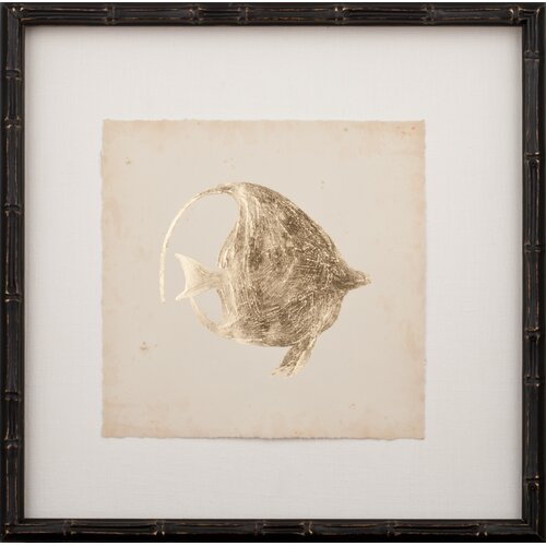 Mirror Image Home Gold Leaf Fish III Framed Graphic Art