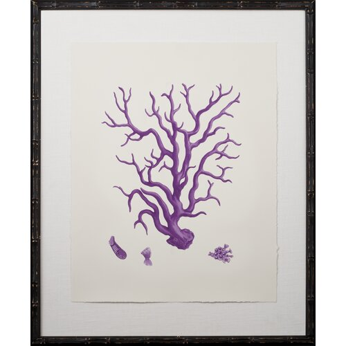 Mirror Image Home Purple Coral Giclee III Framed Graphic Art