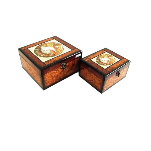 Decorative Greek Queen Box (Set of 2)