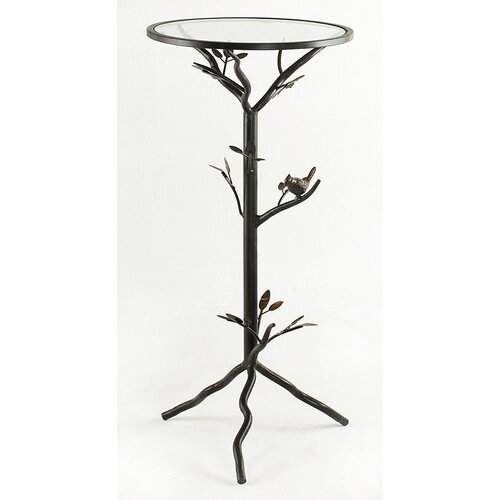 InnerSpace Luxury Products Small Glass Bird Table with Removable Glass Top