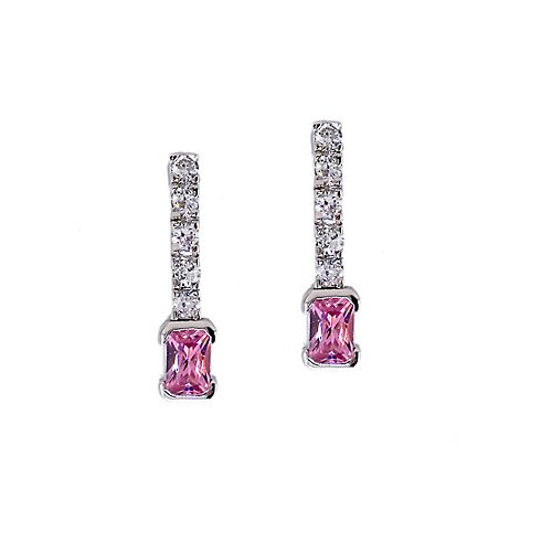 Rozzato Feminine Pink Diamond Earrings