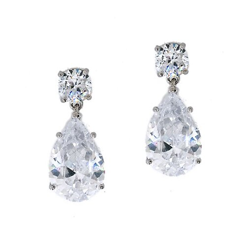 Oprah's Diamond Pear Drop Earrings Jewelry