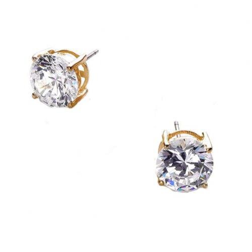 Rozzato 7 CT TW cubic zirconia Diamond Vermeil Stud Earrings