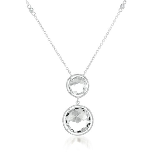 Rock Candy Double Round Drop Chain Necklace