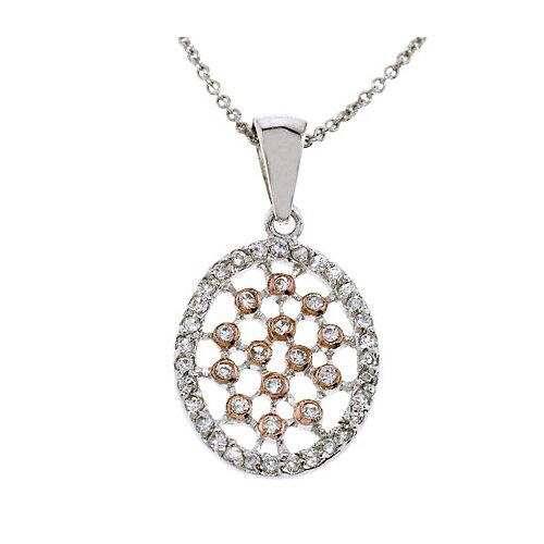 Rozzato Lattice Oval Rose Gold Pendant