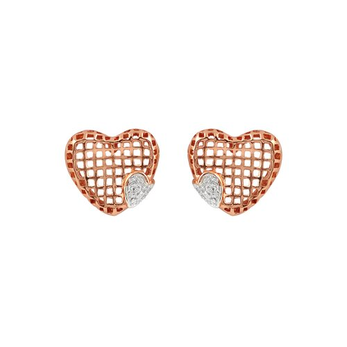 Lace Square Cubic Zirconia Earrings