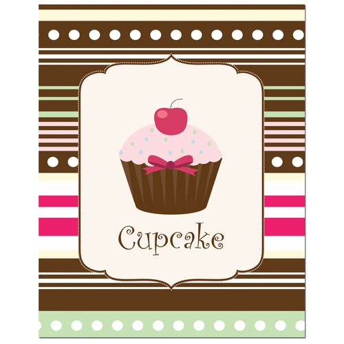 Secretly Designed Sweet Cupcake Canvas Art