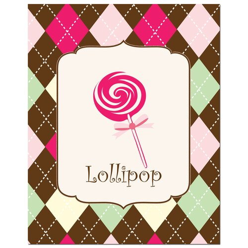 Secretly Designed Sweet Lollipop Canvas Art