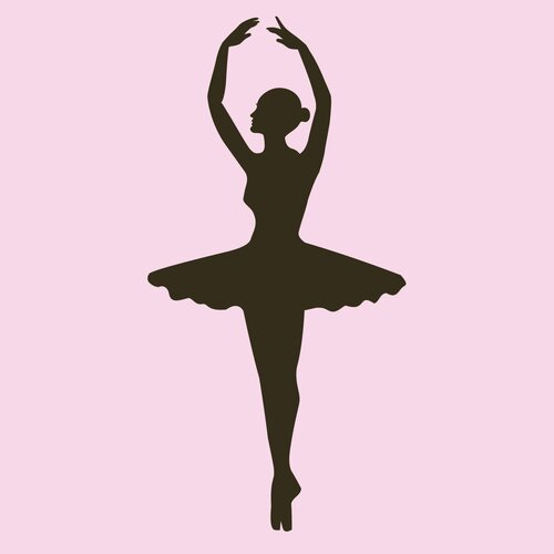 Secretly Designed Ballet Dancer Wall Decal