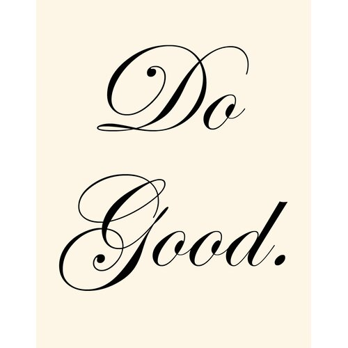 Do Good Wall Art Print