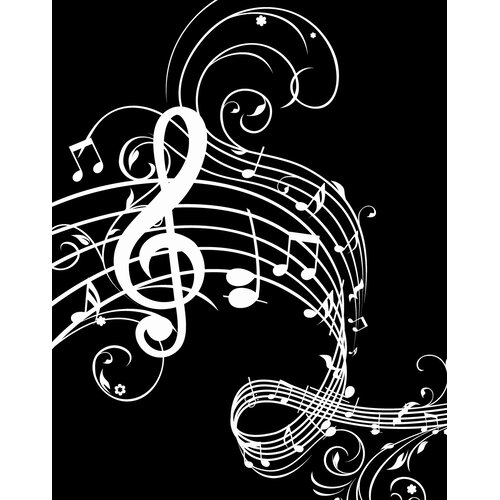 Secretly Designed Music Notes Paper Print