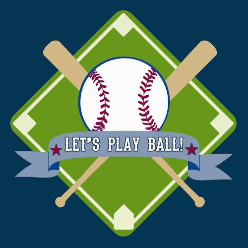 Secretly Designed Let's Play Ball Paper Print
