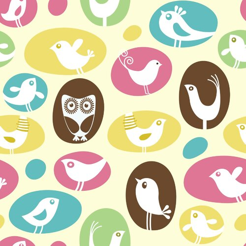 Secretly Designed Brids, Birds, Birds Paper Print