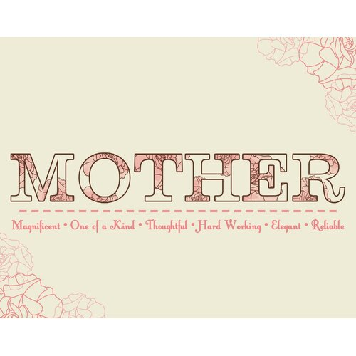 Secretly Designed Motherly Love Wall Art Print