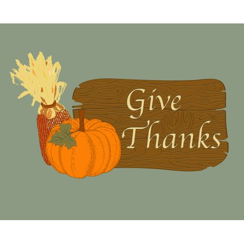 Secretly Designed GiveThanks Art Print