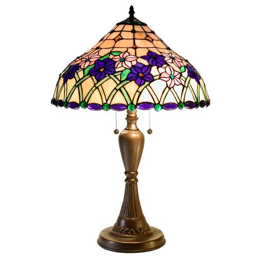 "Warehouse of Tiffany Iris 29"" H Table Lamp"