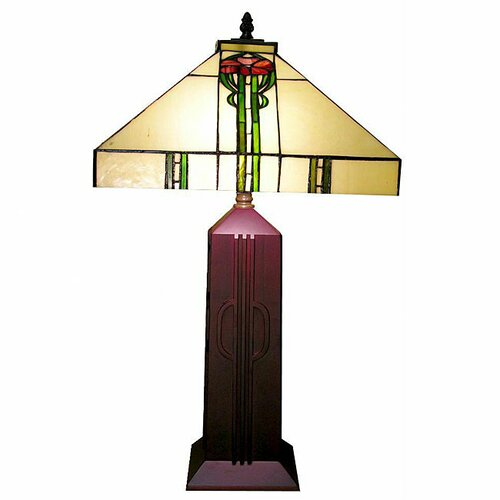 """Warehouse of Tiffany Mission 25"""" H Table Lamp with Square Shade"""