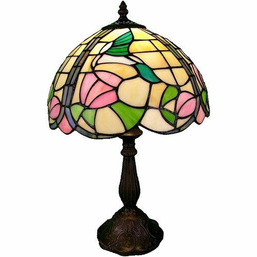 "Warehouse of Tiffany Hummingbird 18"" H Table Lamp with Bowl Shade"