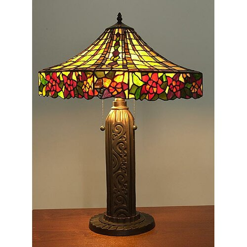 "Warehouse of Tiffany Mission Tiffany 28"" H Table Lamp with Bell Shade"