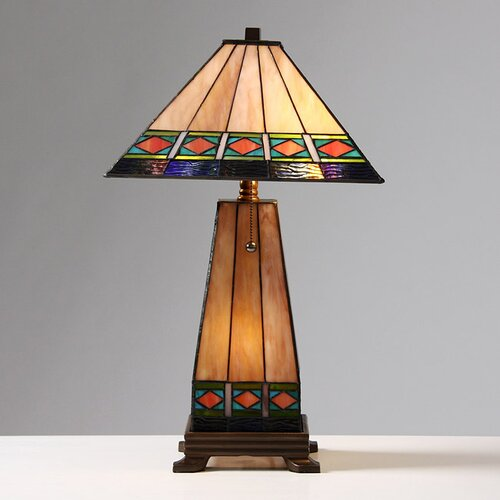 Warehouse of Tiffany Mission Style Lighted Base Table Lamp