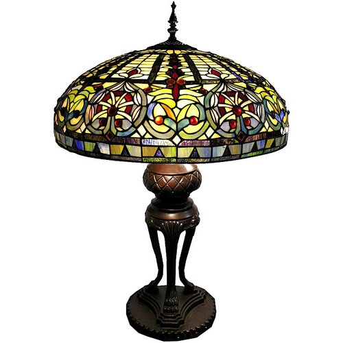 Warehouse of Tiffany Classic Fan Boasts Table Lamp