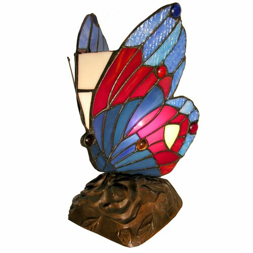 "Warehouse of Tiffany 9.5"" H Butterfly Accent Table Lamp"