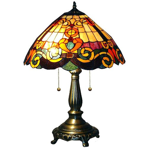 Warehouse of Tiffany San Fran Table Lamp with Bowl Shade