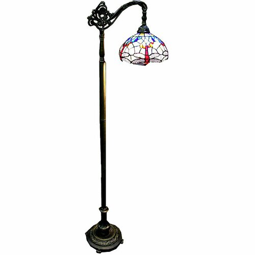 Warehouse of tiffany dragonfly reading floor lamp for Reading floor lamp reviews