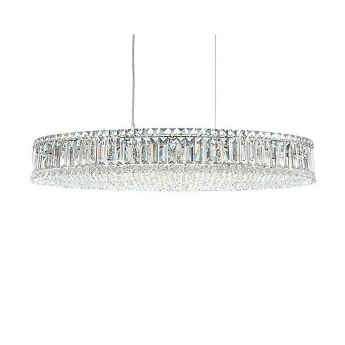 Warehouse of Tiffany 1 Light Crystal Drum Foyer Pendant