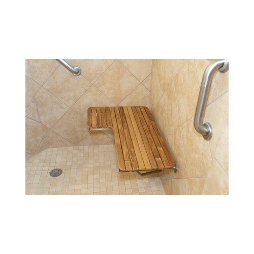 Teakworks4u Wall Mount Teak Transfer Bench