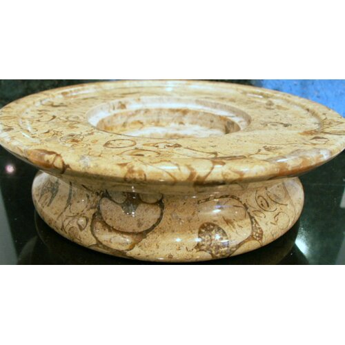 Marble Products International 3 Tier Fossil Stone Candle Dish