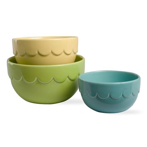 TAG Easter 3 Piece Scalloped Nested Bowl Set