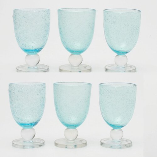 Bubble Glass Goblet (Set of 6)