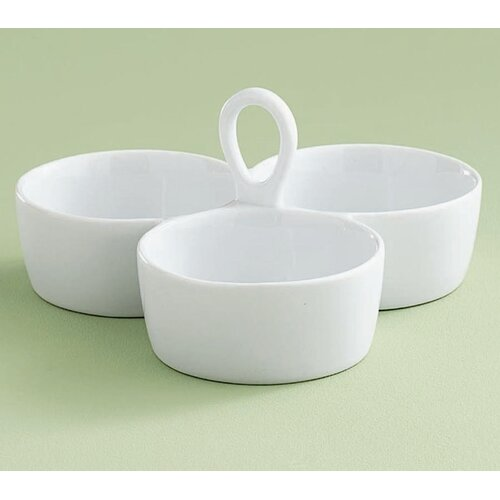 TAG Whiteware Round Divided Dish