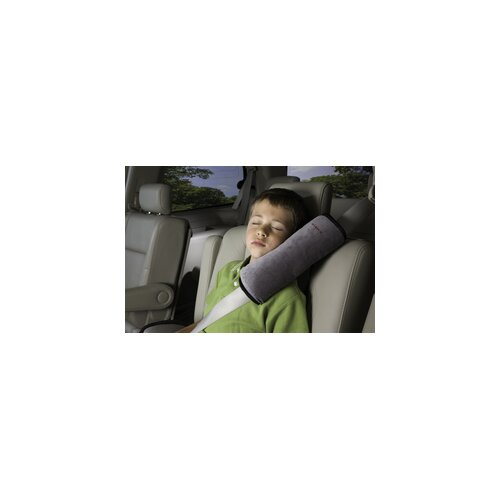 Seatbelt Pillow in Grey / Black